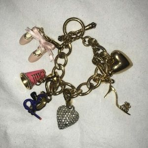 Juicy Couture charm bracelet with 5 charms